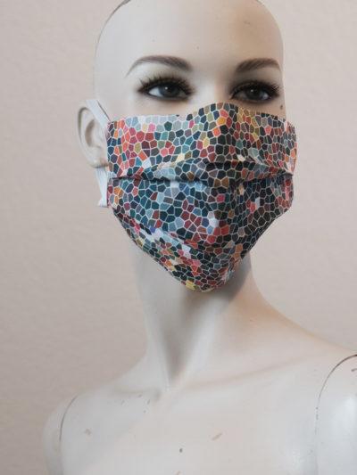 Mund-Nasen-Maske Plisee