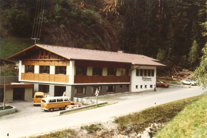 Mühlmann Bekleidung - Neubau im Jahre 1981